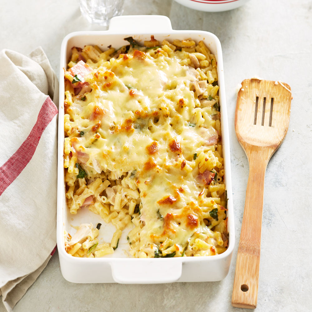 Ranch Style Chicken Macaroni Bake Better Homes And Gardens