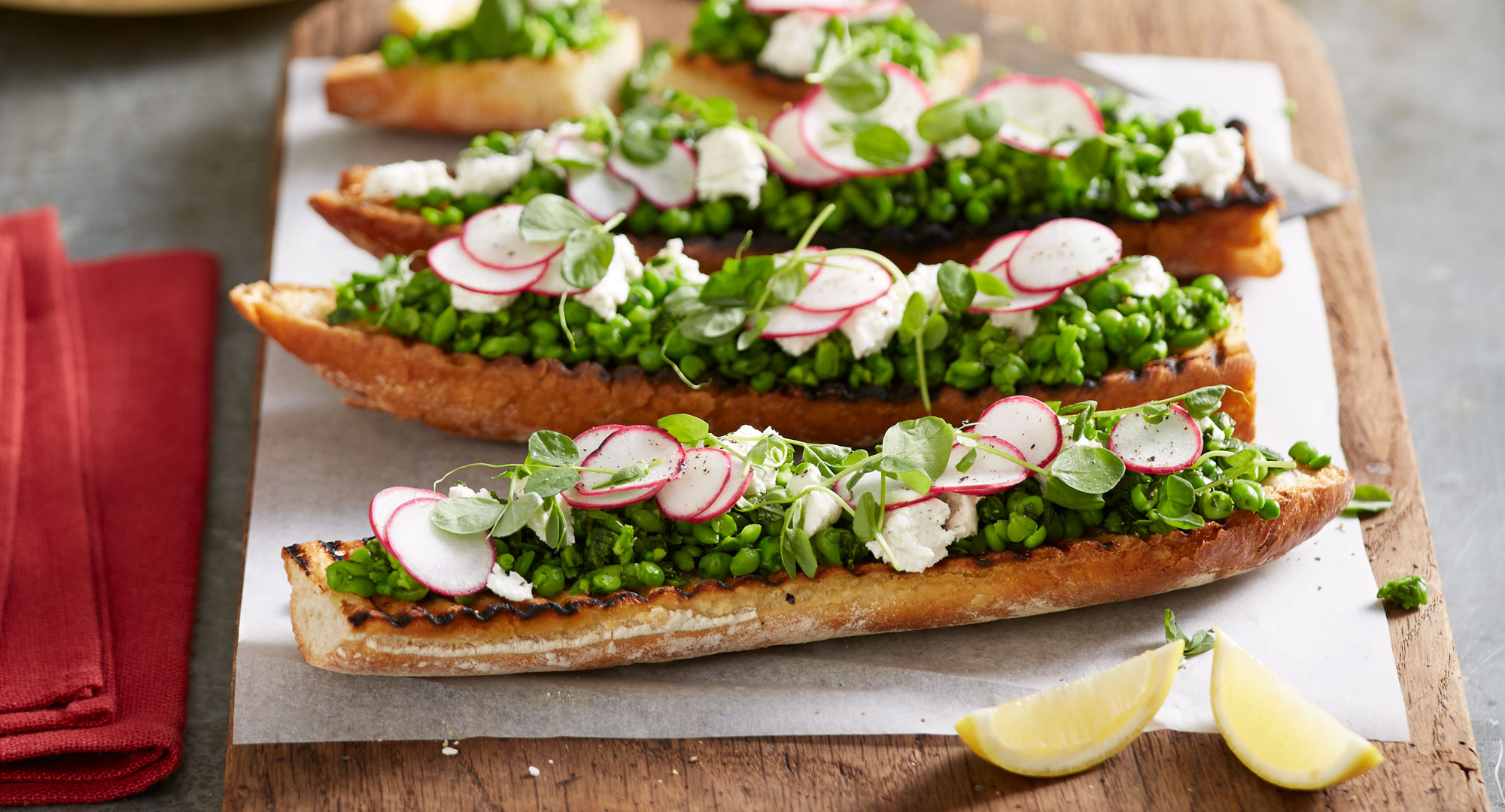 Herbed pea and persian feta toasties better homes and for Better homes and gardens australia episodes