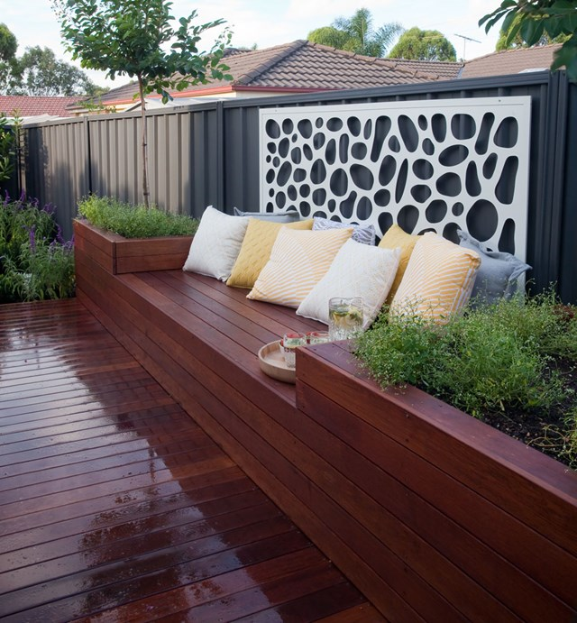 how to make garden planters using decking
