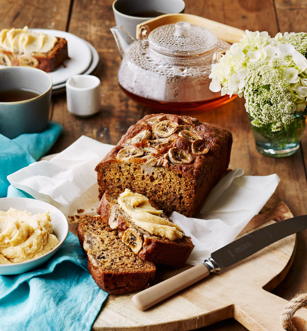 Banana Bread With Miso Maple Butter Better Homes And Gardens