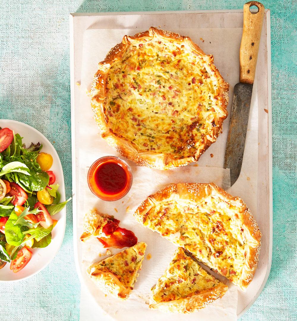 Freeform Ham And Cheese Tarts Diy Gardening Craft