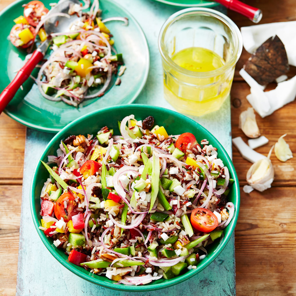 Mixed rice and garden vegetable salad better homes and gardens for Better homes and gardens potato salad