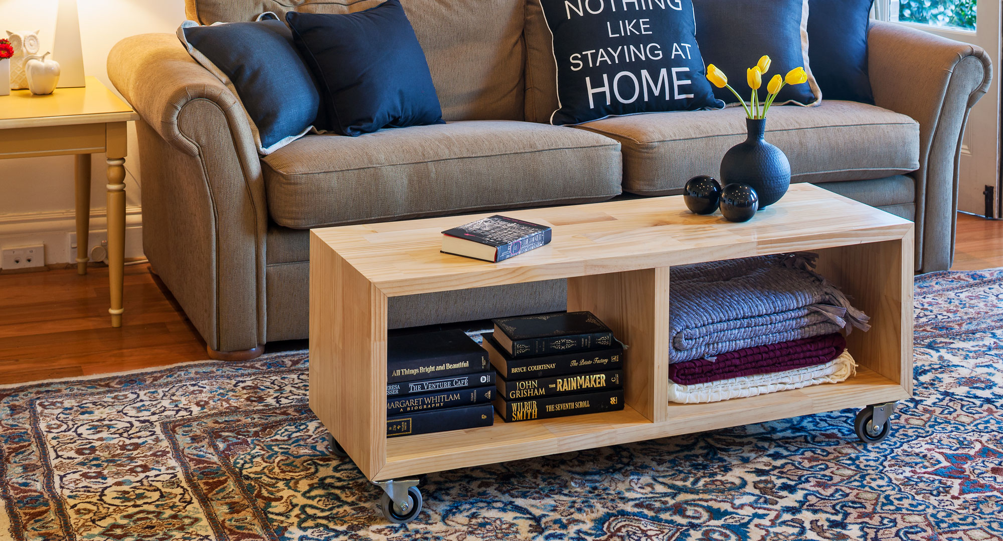 Make your own versatile mobile coffee table diy for Make your own coffee table