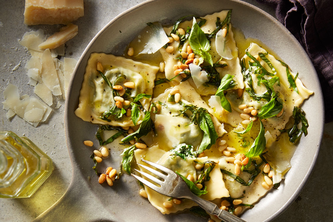 Spinach and ricotta ravioli better homes and gardens Better homes gardens tv show recipes