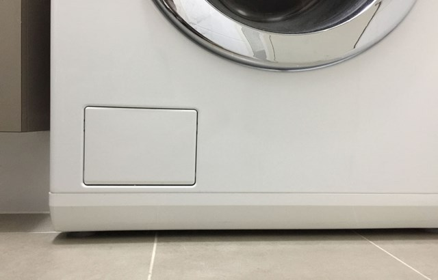 What's that little door on your front loader washing machine for?